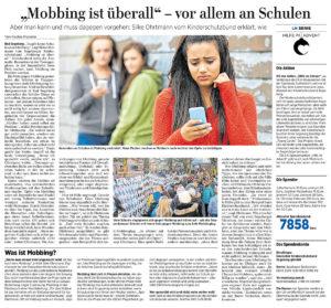 """""""Mobbing ist überall"""" – vor allem an Schulen"""