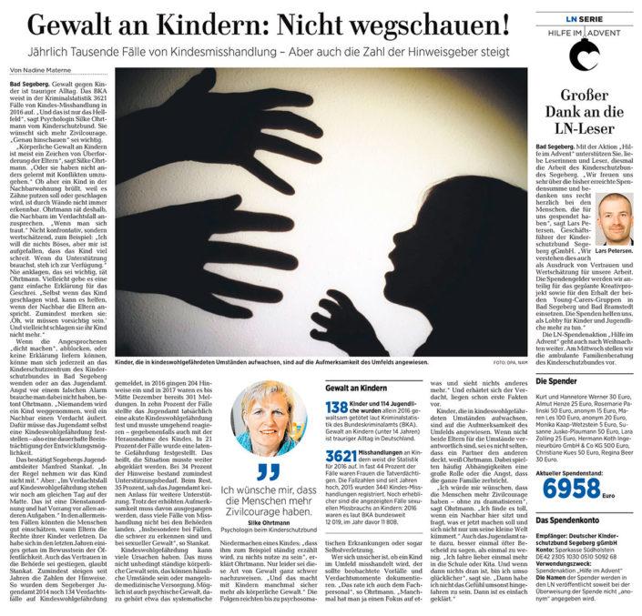 Gewalt an Kindern: Nicht wegschauen!