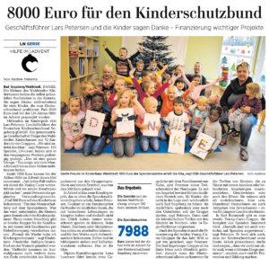 8000 Euro für den Kinderschutzbund